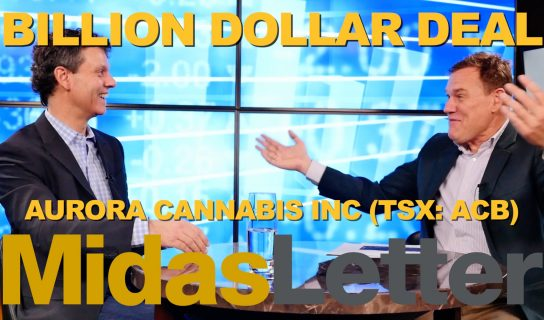 Aurora Cannabis Inc (TSE:ACB) (OTCQB:ACBFF) (FRA:21P) and MedReleaf Corp (TSE:LEAF) (OTCMKTS:MEDFF) (FRA:MEW) announced the biggest merger yet in the Canadian Cannabis sector in an all stock transaction valued at $3.2 billion.